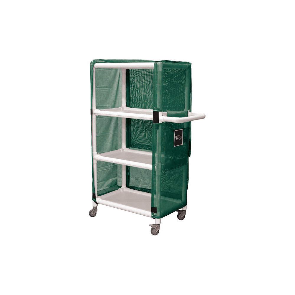 3-Compartment Bulk Linen Cart, 300 lb  Capacity, 32
