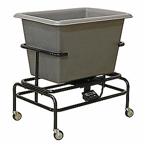 "35""H x 24"" Poly Scale Cart, 250 lb. Load Capacity"