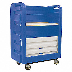 "2-Compartment Bulk Linen Cart Capacity, 50-1/2"" L X 28"" W X 66-3/4"" H"