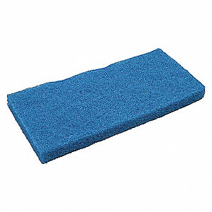 REGULAR DUTY PAD,BLUE,10L X 4IN. W,