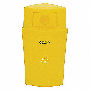 RECYCLING RECEPTACLE, YELLOW,21G