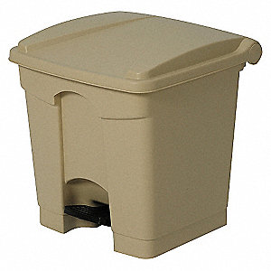 STEP ON CONTAINER,SQUARE,8 G,BEIGE