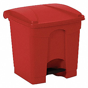 STEP ON CONTAINER,SQUARE,8 G,RED