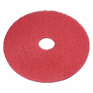 BUFFING PADS, RED, 20 IN, PK 5