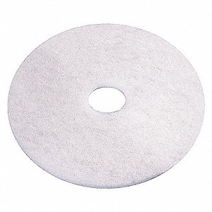 POLISHING PADS, WHITE, 12 IN, PK 5