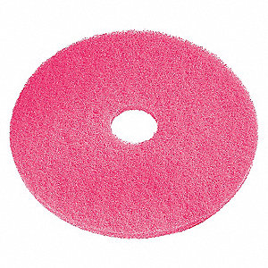 AUTO SCRUB PADS, PINK, 13 IN, PK 5