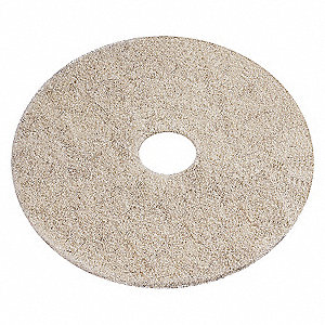 BURNISHING PADS, BEIGE, 20 IN, PK 5