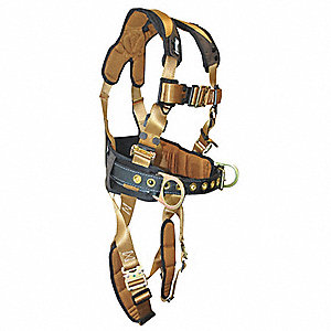 Full Body Harness,S/M,310 lb.,Brown