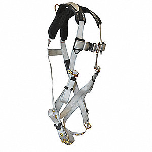 Universal Confined Space Full Body Harness, 3375 lb. Tensile Strength, 310 lb. Weight Capacity, Silv