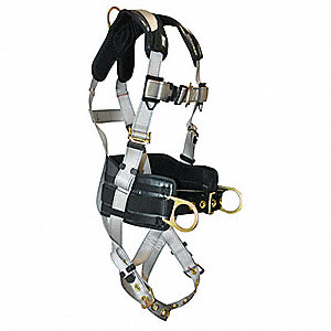 Full Body Harness,L/XL,310 lb.,Silver