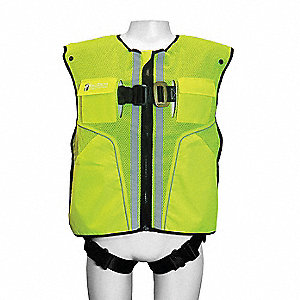L/XL Confined Space Full Body Harness, 3375 lb. Tensile Strength, 310 lb. Weight Capacity, Lime