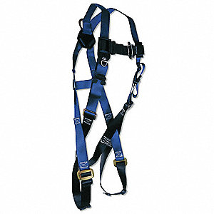 Full Body Harness,Universal,310 lb.,Blue