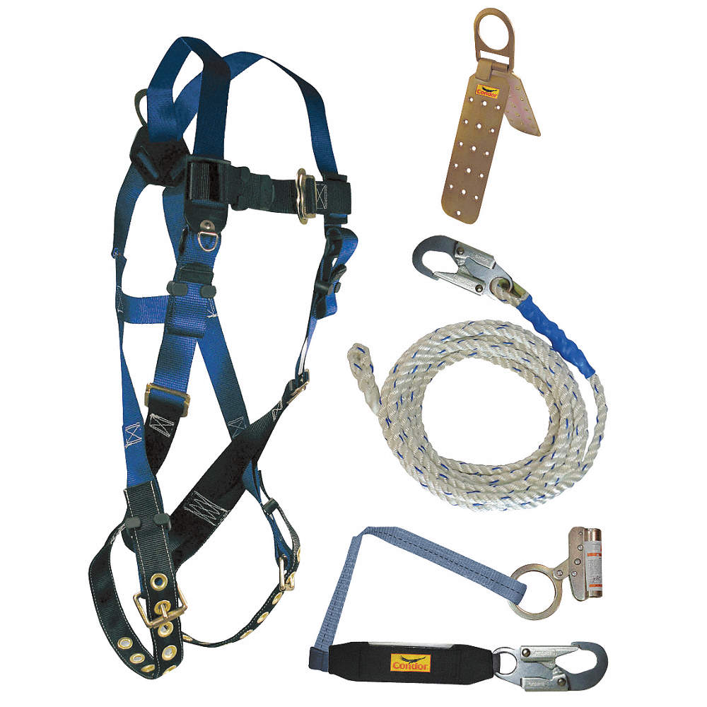 CONDOR Fall Protection Kit, Universal - 19F394 19F394 - GraingerGrainger