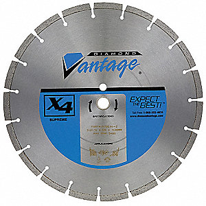 "18"" Wet/Dry Diamond Saw Blade, Segmented Rim Type"