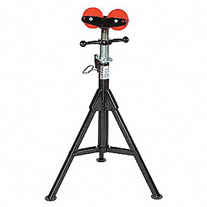 """Pipe Jack Stands >> SUMNER Roller Head Pipe Stand, 24"""" Pipe Capacity, 28"""" to ..."""