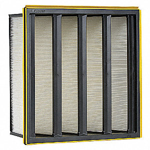 V-Bank Air Filter,24x24x12,MERV 16