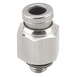 "316 Stainless Steel Male Adapter, 5/32"" Tube Size"