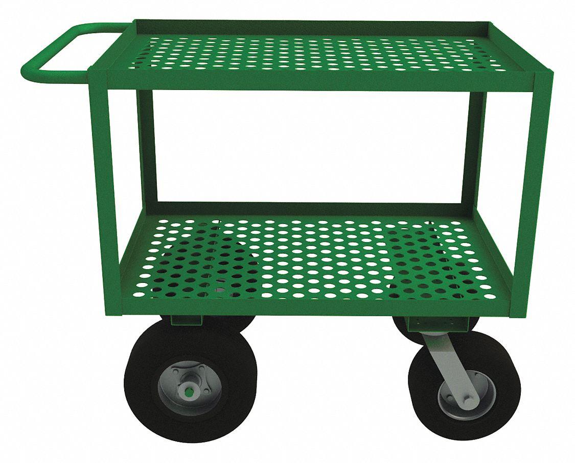 42-1/4 In L x 24-1/4 In W x 35 In H Garden Cart, 1200 lb.