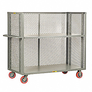 Adjustable Shelf Bulk Stock Cart, 3600 lb. Load Capacity, (2) Swivel, (2) Rigid Caster Type