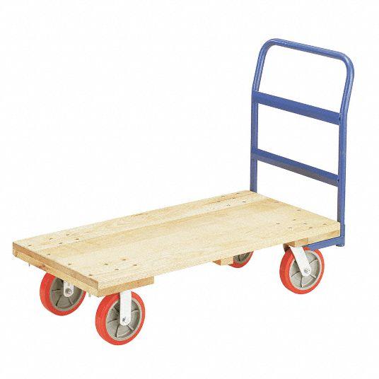 Little Giant Hardwood Deck Platform Truck 2400 Lb Load Capacity 19g947 W3048 8pubk Grainger