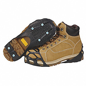 Men's Rubber All Purpose Ice Traction Device, Black, Size L