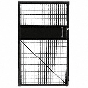 Hinged Door,46 In x 5 ft,Powder Coated