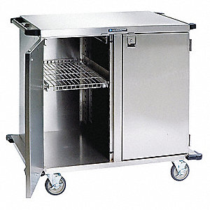 "29""D x 48""W x 54""H Stainless Steel Closed Case Cart, 300 lb. Load Capacity"