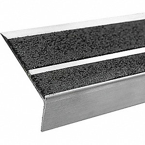 Black with Black Front, Aluminum Stair Tread Cover, Installation Method: Fasteners, Beveled Edge Typ