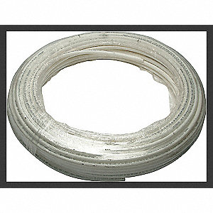 PEX TUBING,WHITE,3/4IN,300FT,100PSI