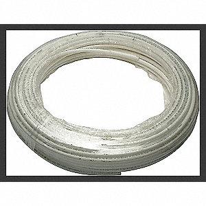 PEX TUBING,WHITE,1/2IN,100FT,100PSI