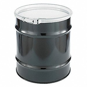 Transport Drum,Open Head,20 gal.,Black