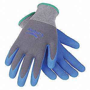 13 Gauge Coated Gloves, Gray/Blue