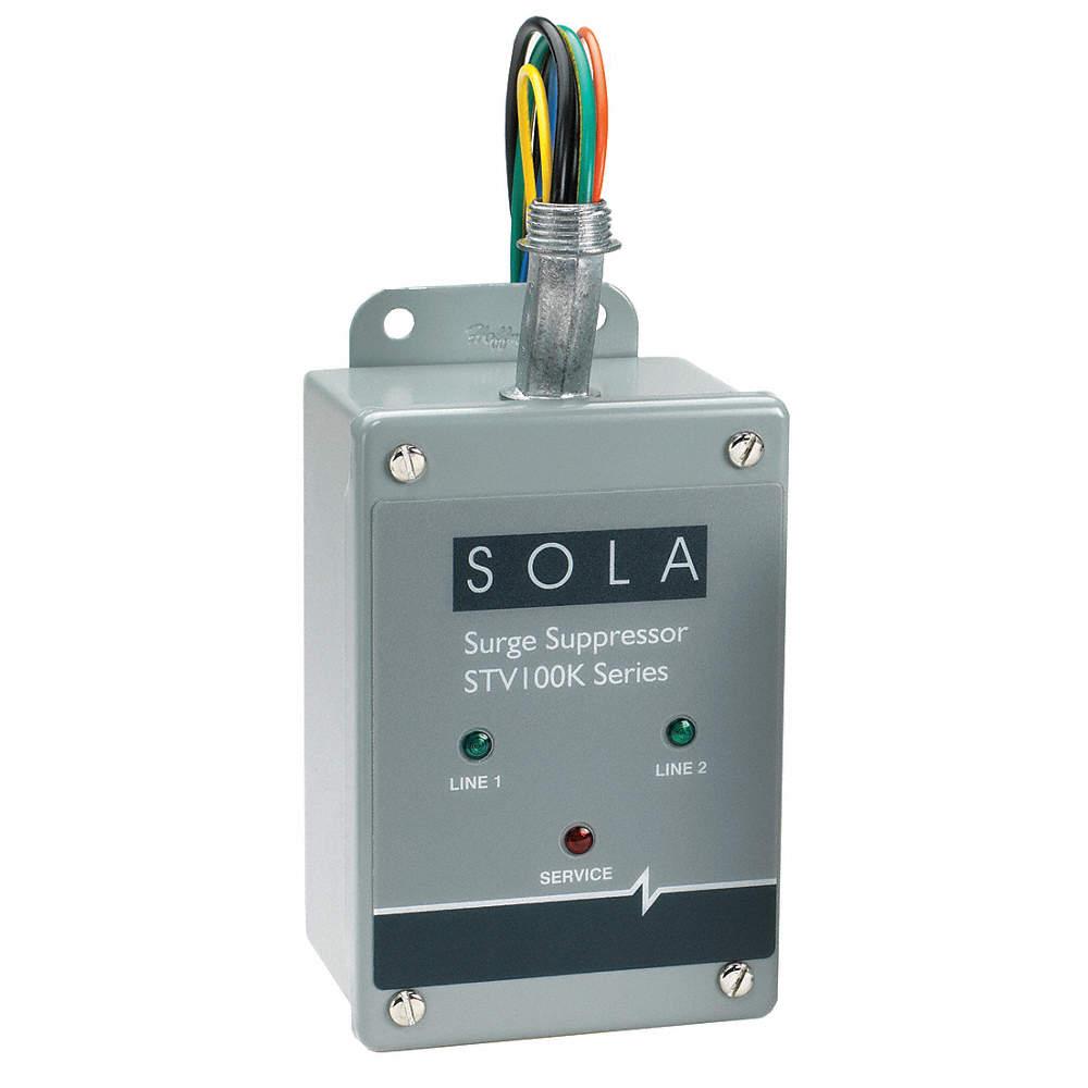 SOLA/HEVI-DUTY 3 Phase Surge Protection Device, 120/208VAC Wye ...