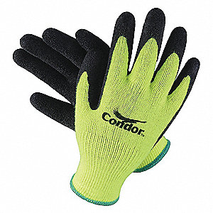 Coated Gloves,Palm and Fingers,L,PR