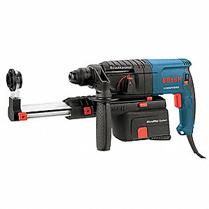 SDS Plus Rotary Hammer, 6.1 Amps, 0 to 4400 Blows per Minute, 120 Voltage
