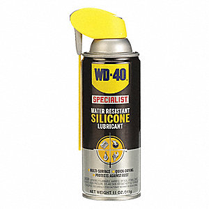 Lubricant, -100°F to 500 Degrees F, Silicone, 11 oz  Aerosol Can