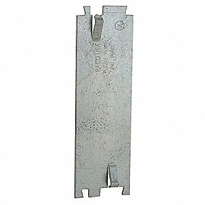 Pre-Galvanized Steel Cable Protection Plate, For Use With Nonmetallic Cables or Raceway Wires