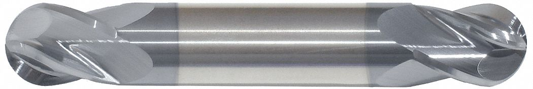 Ball End Mill,  1/8 in,  Carbide,  AlTiN,  Non-Coolant Through