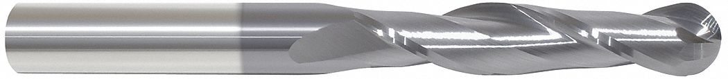 Ball End Mill,  3/4 in,  Carbide,  AlTiN,  Non-Coolant Through