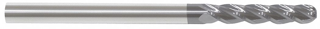 Ball End Mill,  5/8 in,  Carbide,  AlTiN,  Non-Coolant Through