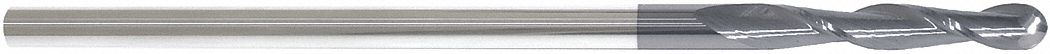 Ball End Mill,  5/16 in,  Carbide,  AlTiN,  Non-Coolant Through