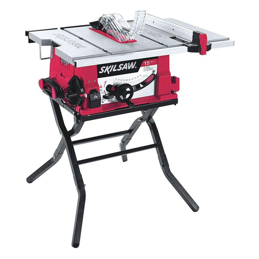 10 Contractor Table Saw 15 0 Amps Blade Tilt Left 5 8 Arbor Size 5000 No Load Rpm