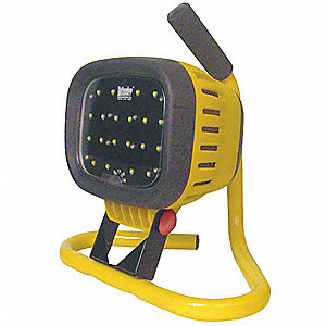 72W LED Floor Stand Temporary Job Site Light, Yellow, 6000 Lumens
