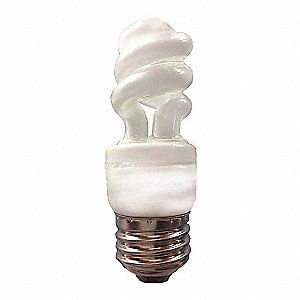 4.0 Watts  Screw-In CFL, Twist, Medium Screw (E26), 250 Lumens 2700K Bulb Color Temp.