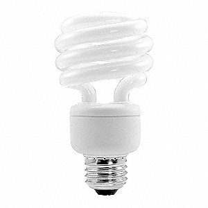 19.0 Watts  Screw-In CFL, Twist, Medium Screw (E26), 1200 Lumens 2700K Bulb Color Temp.