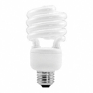 23 Watts Screw-In CFL, Twist, Medium Screw (E26), 1600 Lumens, 2700K Bulb Color Temp.
