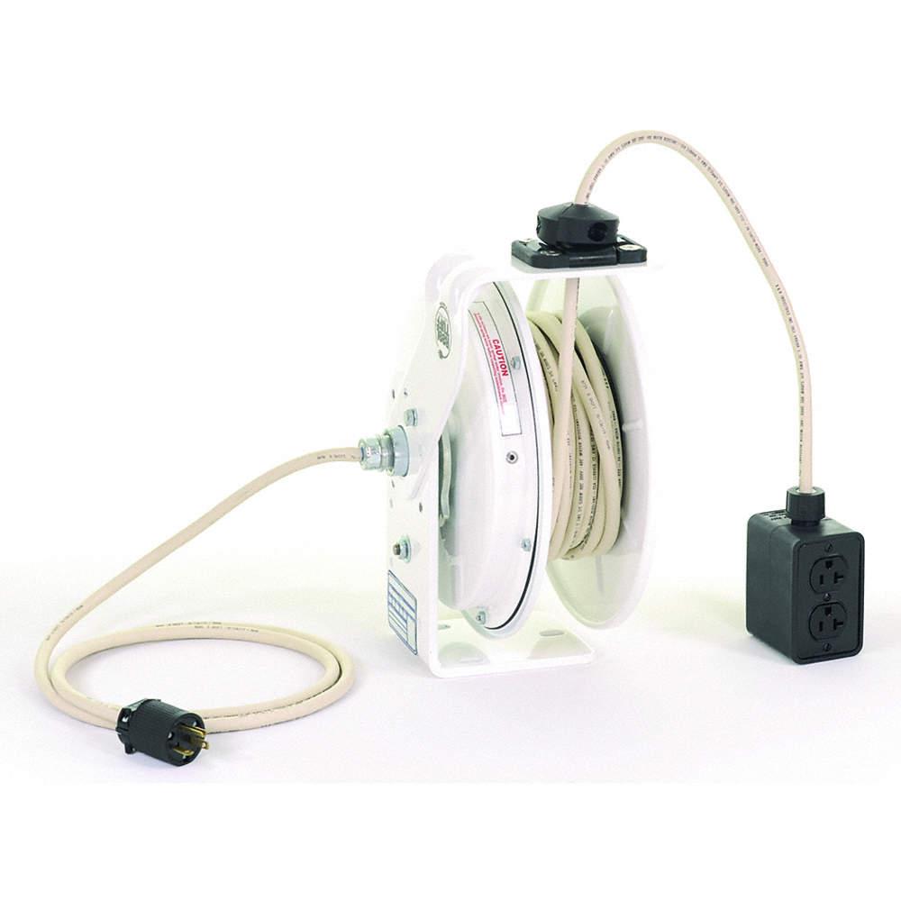 Kh Industries Retractable Cord Reel 120vac Quad Box