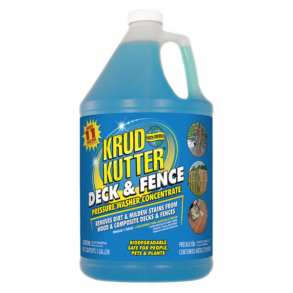 KRUD KUTTER Deck and Fence Cleaner, 1 gal. Size, For Use On Wood ...