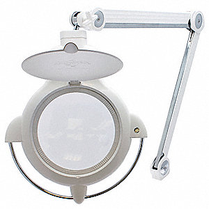 Magnifier Light, LED, IvoryClamp On