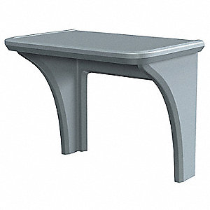 Institutional Desk,36 x 29 x 24 In,Gray